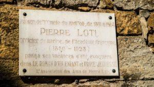 Plaque commémorative Pierre Loti